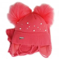 Žieminė kepurė mergaitei Anastazija(44-46 cm) elektr.