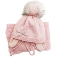 Žieminė kepurė mergaitei Kelly(46-48 cm) šv.rausva
