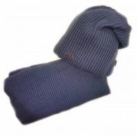 Žieminė kepurė su mova DORIAN (50-54 cm) mėlyna