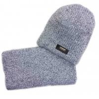 Žieminė kepurė su mova ZORRO(52-54 cm) pilka