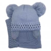 Žieminė kepurė mergaitei Dosia(46-48 cm) pilka
