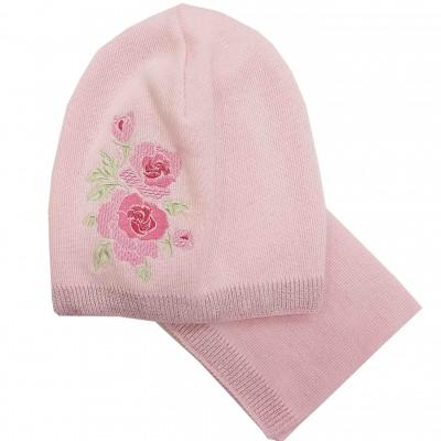 Rudeninis - pavasarinis kepurės ir movos komplektas mergaitei (50-52 cm)