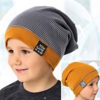 AJS dviguba kepurė berniukui 52-54 cm