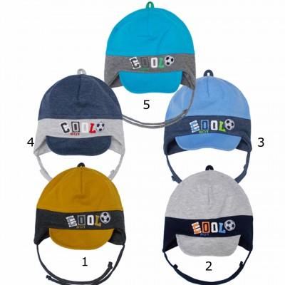 AJS vienguba kepurė berniukui 52-54 cm