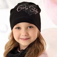 AJS viengubo trikotažo kepurė mergaitei 52-54 cm
