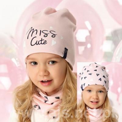 AJS dviguba kepurė mergaitei 48-50 cm