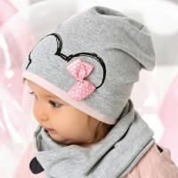 AJS viengubo trikotažo kepurė mergaitei 48-50 cm