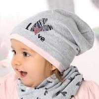 AJS viengubo trikotažo kepurė mergaitei 44-46 cm