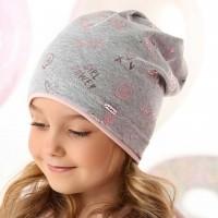 AJS vienguba kepurė mergaitei 48-50 cm