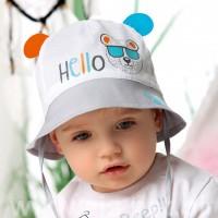 """AJS plona kepurė (48,50,52) """"Hello"""""""