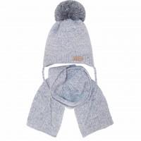 Žieminė kepurė su šaliku berniukui (44-46 cm)