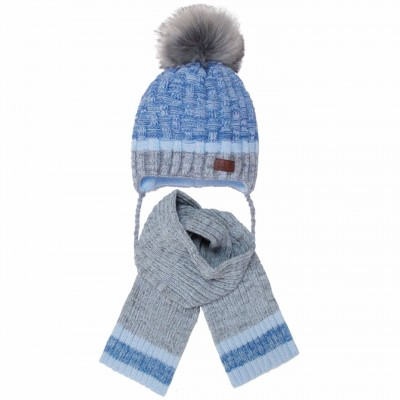 Žieminė kepurė su šaliku berniukui (44-48 cm)