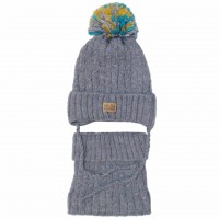 Žieminė kepurė su mova berniukui (44-48 cm)