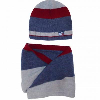 Žieminė kepurė su šaliku berniukui (52-56 cm)