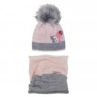 Žieminė kepurė mergaitei su mova (50-52 cm)