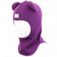 Merino vilnos violetinė kepurė-šalmas Meškiukas 2202/11