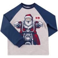 Kalėdiniai marškinėliai berniukui Xo (mėlyni)