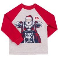 Kalėdiniai marškinėliai berniukui Xo (raudoni)