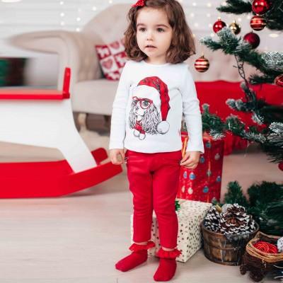 Kalėdinė palaidinė mergaitei (balta)