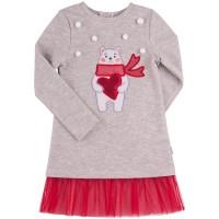 Kalėdinė kilpinio trikotažo suknelė