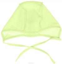 Šilta (su pūkeliu) kepurė kūdikiui (žalsva-salotinė)