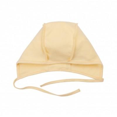 Šilta (su pūkeliu) kepurė kūdikiui (gelsva)