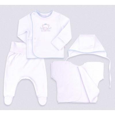 Baltas komplektukas (melsva apdaila, su dėžute)