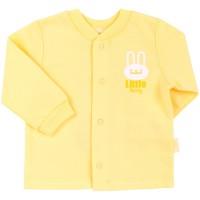 Šilti marškinėliai (su pūkeliu) geltonos spl.