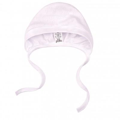 Kepurė kūdikiui išvirkščiom siūlėm (balta)