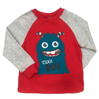 """Marškinėliai berniukui """"Cool Boy"""" raudoni"""