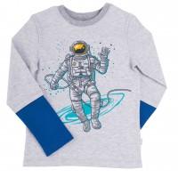 """Marškinėliai berniukui """"Kosmonautas"""" pilki"""