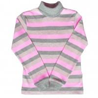 Šiltas golfas (pilka/rožinė)
