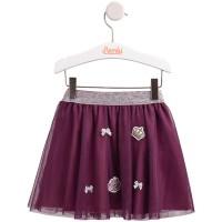 Tiulio sijonas slyvų spalvos