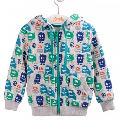 """Šiltas (su pūkeliu) džemperiukas su gobtuvu berniukui """"Monstro"""""""