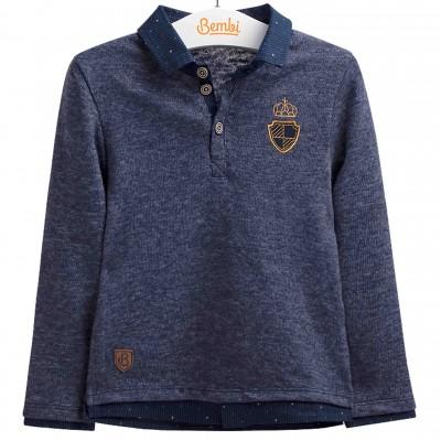 Stilingi šilto trikotažo marškinėliai berniukui