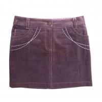 Velvetinis sijonas (rusvas)