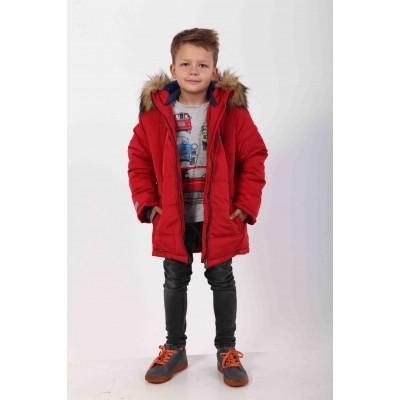 Šilta žieminė prailginta striukė berniukui
