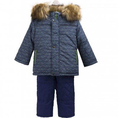 Žieminis kombinezonas berniukui (Dviejų dalių)  (mėlyna - žalia)