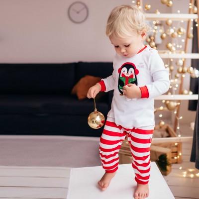 Kalėdinis baltas romperis