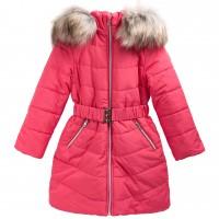Šilta prailginta žieminė striukė mergaitei