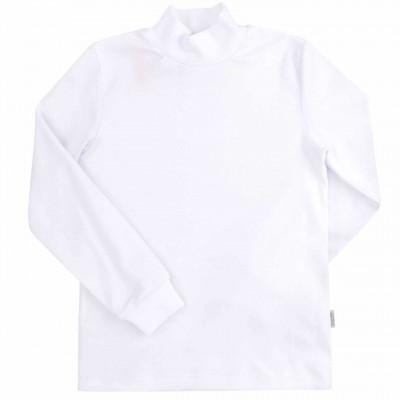 Balti marškinėliai aukštu kaklu