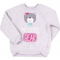Džemperis mergaitei Bear (pilkas)