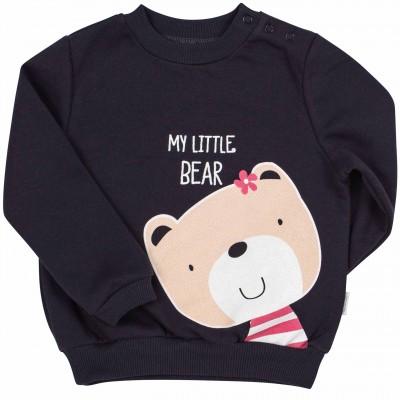 Džemperis mergaitei Bear (tamsiai pilkas)