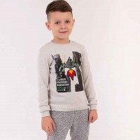 Marškinėliai berniukui Gamer (t.pilka)
