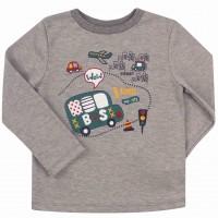 Marškinėliai berniukui Rider (pilki)