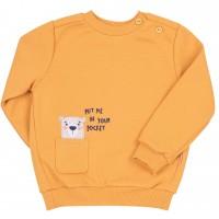 Šiltas džemperis (su pūkeliu) Bear (oranž.)