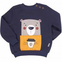 Šiltas džemperis (su pūkeliu) Bear (mėlynas)