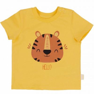 "Marškinėliai ""Hello"" geltonos spl."