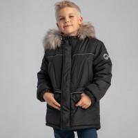 Šilta žieminė striukė berniukui juodos spalvos