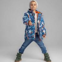 Šilta žieminė prailginta striukė berniukui Žvaigždės
